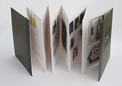 You aren't limited to traditional binding. Accordion folded books are making a comeback.