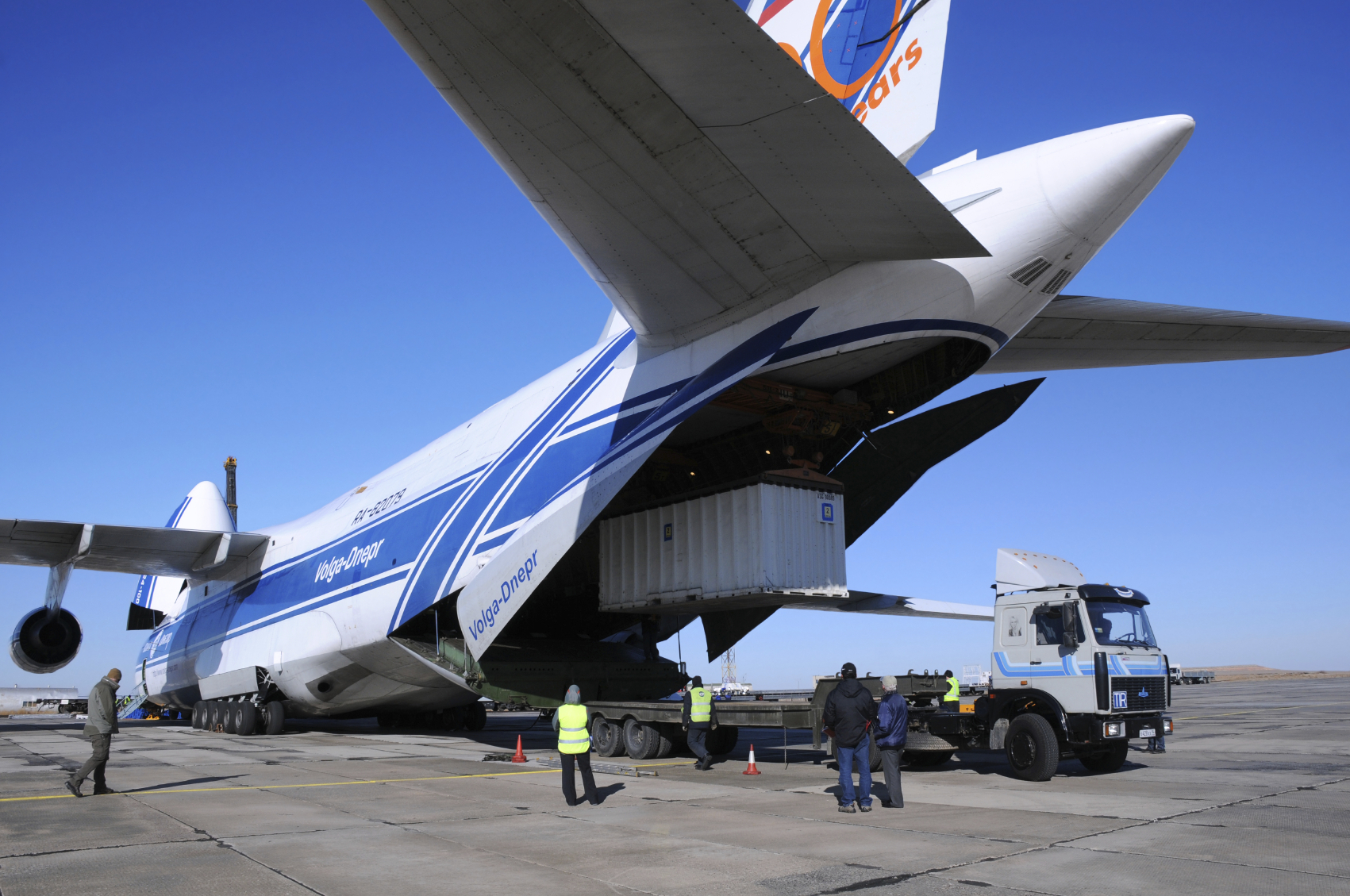 Expedited Air Shipping Plane Being Loaded