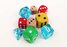 How do you roll? The right dice material can complete the look and feel of your game