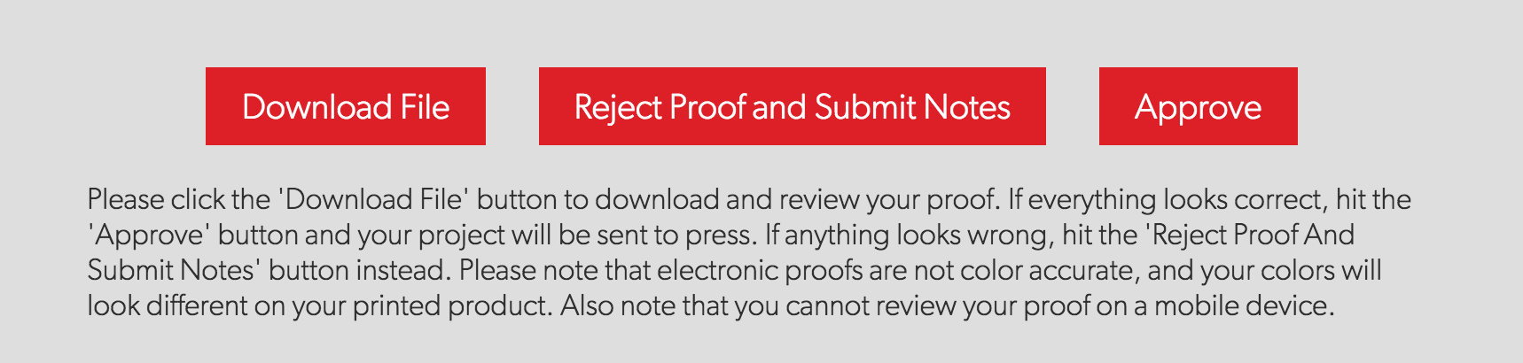 Electronic Proof Approval Button