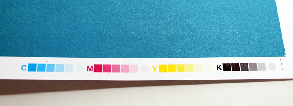Printer's Marks Color Bar on Proof CMYK Offset Printing