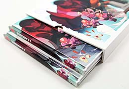View our packaging options: shrink wrap, slipcases and custom boxes.